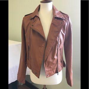 Paris Blues Faux Leather Jacket Sz M Zipper